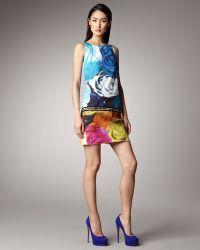 Peter Som - Rose-print Shift Dress - Lyst