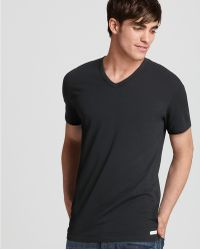Calvin Klein Stretch V-Neck Undershirt, Pack Of 2 - Lyst