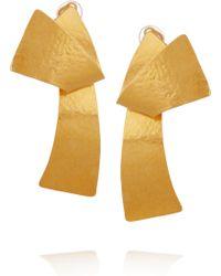 Herve Van Der Straeten 24karat Goldplated Twisted Clip Earrings - Lyst