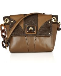 MILLY - Gabriella Texturedleather Shoulder Bag - Lyst