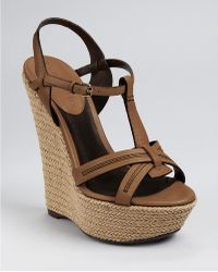 Burberry Spring Leather Tweed Espadrille - Lyst