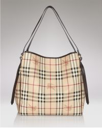 Burberry Small Checked Tote - Lyst