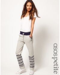 ASOS Collection Asos Petite Exclusive Stripe Sweat Pants gray - Lyst