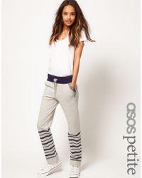 ASOS Collection Asos Petite Exclusive Stripe Sweat Pants - Lyst