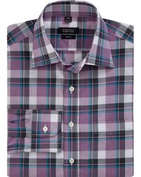 Barneys New York Oversized Plaid Dress Shirt - Lyst