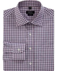 Barneys New York Layered Check Dress Shirt - Lyst