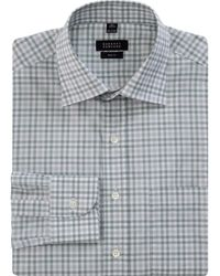 Barneys New York Gingham Check Dress Shirt - Lyst