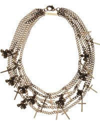 Givenchy - Cross Iris Necklace - Lyst
