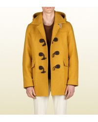 Gucci Montgomery Jacket with Detachable Hood yellow - Lyst