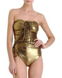 Lanvin - Metallic Swimsuit - Lyst