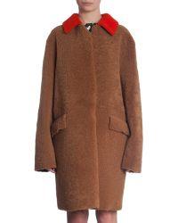 Marni Oversized Coat brown - Lyst