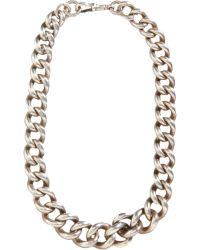 Olivia Collings - Silver Very Heavy Curb Link Chain Necklace - Lyst