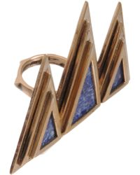 Pamela Love - Bronze Lapis Mountain Ring - Lyst