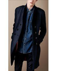 Burberry Brit Midlength Wool Blend Coat - Lyst