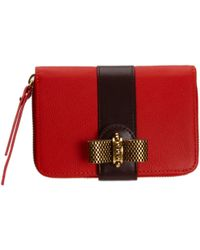 Christian Louboutin Red Gaia Wallet - Lyst