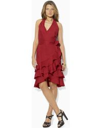 Lauren by Ralph Lauren Sleeveless Linen Dress - Lyst
