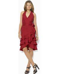 Lauren by Ralph Lauren Sleeveless Linen Dress red - Lyst