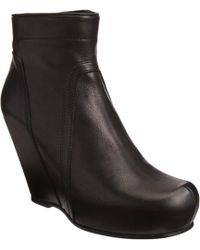 Rick Owens Side Zip Wedge Ankle Boot - Lyst