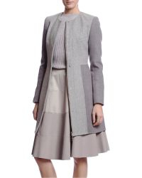 Thakoon Collarless Coat - Lyst