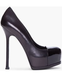 Saint Laurent Black Tribtoo Pumps - Lyst