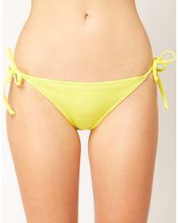 Asos Asos Mix and Match Tie Side Bikini Pant - Lyst
