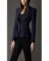 Burberry Pleated Peplum Jacket - Lyst