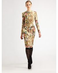 Dolce & Gabbana Tapestry Dress - Lyst