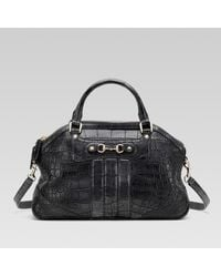 Gucci Cathrine Medium Top Handle Bag with Small Horsebit Detail - Lyst