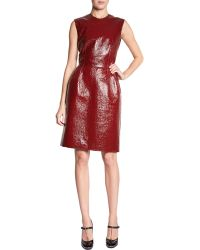 Lanvin Patent Sheath Dress - Lyst