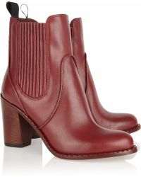 Marc By Marc Jacobs Stackedheel Leather Ankle Boots - Lyst