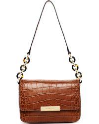 MICHAEL Michael Kors Cynthia Small Shoulder Flap Bag Barley - Lyst
