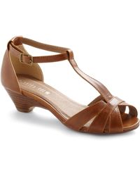 ModCloth Go About Your Afternoon Heel in Chestnut - Lyst
