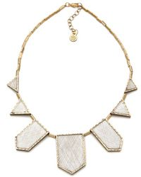 House Of Harlow 1960 Engraved Five Station Necklace - Lyst
