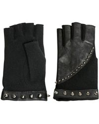 American Retro Studded Fingerless Gloves - Lyst
