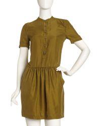 Burberry Washed Silk Dress - Lyst