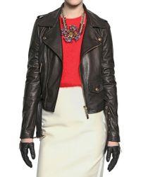 DSquared² Biker Nappa Leather Jacket - Lyst