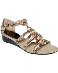Ellen Tracy Christie Wedge Sandals - Lyst