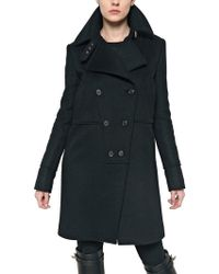 Givenchy Wool Alpaca Cloth Coat - Lyst
