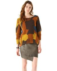 Thakoon Addition - Patchwork Coating Pullover - Lyst
