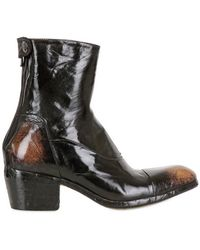 Alberto Fasciani 50mm Hand Polished Calf Low Boots - Lyst