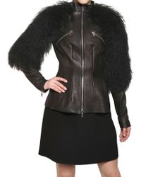 Alexander McQueen Mongolia Textured Nappa Leather Jacket - Lyst