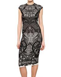 Alexander McQueen Victorian Puckering Wool Jacquard Dress - Lyst