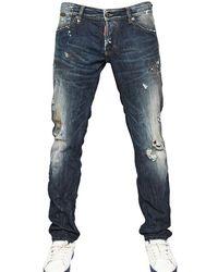 DSquared² 19cm Revolution Wash Slim Fit Denim - Lyst