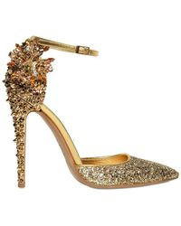 DSquared² 110mm Lalique Crystal and Studs Pumps - Lyst