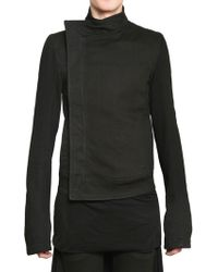 Gareth Pugh Heavy Jersey Denim Jacket - Lyst