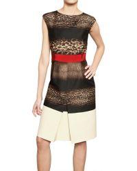 Giambattista Valli Printed Wool Silk Crepe Dress - Lyst