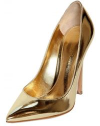 Gianvito Rossi 110mm Calfskin Mirror Pointy Pumps - Lyst