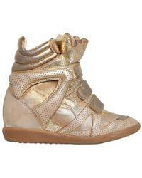 Isabel Marant 80mm Bird Metallic Leather Sneakers - Lyst