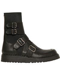 Kris Van Assche - Elasticated Belted Leather Low Boots - Lyst
