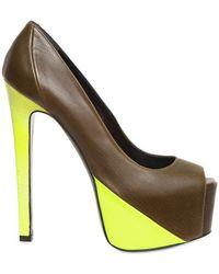 Ruthie Davis   150mm Leather Neon Patent Hamel Pumps   Lyst